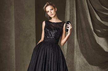 60 vestidos de noche negros... ¡sí, para boda!