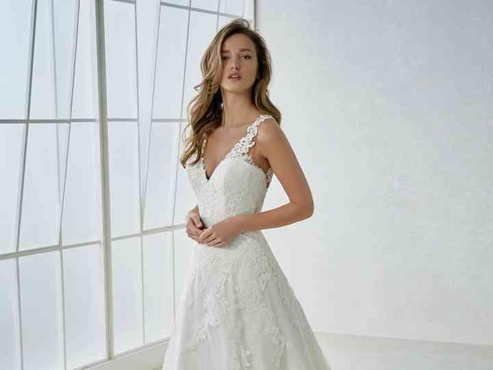 Vestidos de novia White One 2018: el matrimonio del tul y el encaje