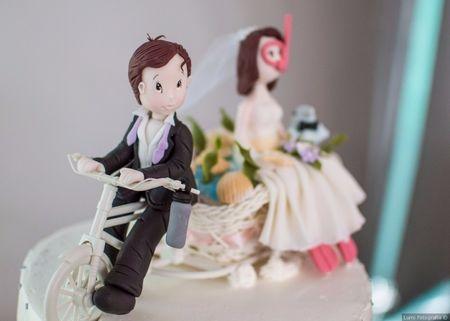 Los muñecos del pastel de boda