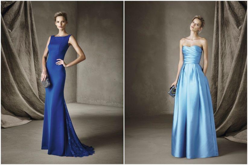e66f6e9f1 15 vestidos azules para un look de invitada - bodas.com.mx