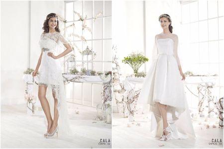 15 vestidos cortos irresistibles para novias