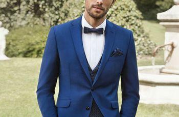 45 trajes de novio azules: el color de los diseñadores