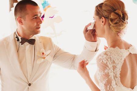 Las fotos más emotivas de las lágrimas de felicidad de las novias
