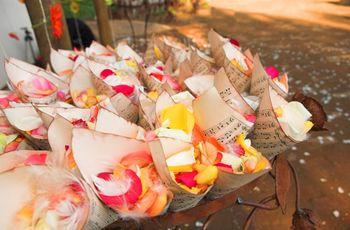 Decoraciones de boda con papel