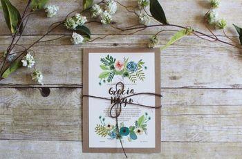 30 invitaciones de boda elegantes: amor a primera vista