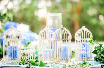 Decoración de boda con jaulas