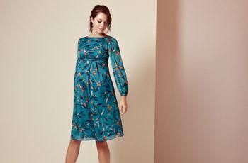 25 vestidos de fiesta para embarazadas: estilismos que valen por dos