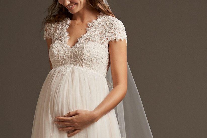 82e9376229 Vestidos de novia para embarazadas  todo lo que debes buscar - bodas ...