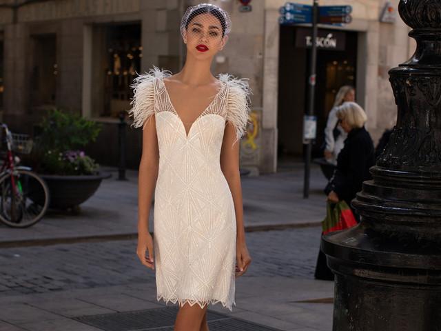 40 vestidos de novia cortos... ¡irresistibles!