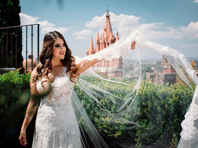 Guía para elegir el velo según tu vestido de novia