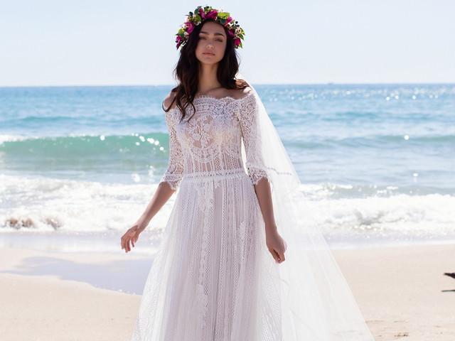55 vestidos de novia 'hippie chic' para un look lleno de romance y glamur