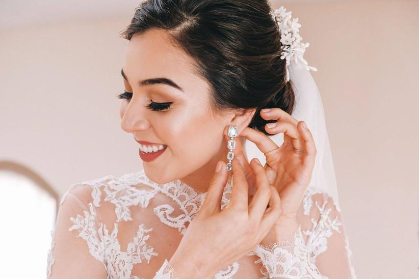 Movilizar cápsula información  20 aretes para novias y 3 preguntas para escoger los tuyos - bodas.com.mx