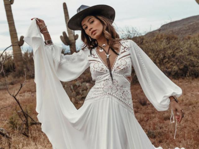 Vestidos de novia Rue de Seine 2020: modelos bohemios con aire campirano