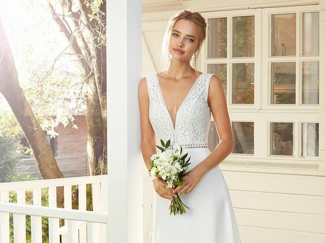 100 vestidos de novia sencillos y muy bonitos: elegancia en estado puro