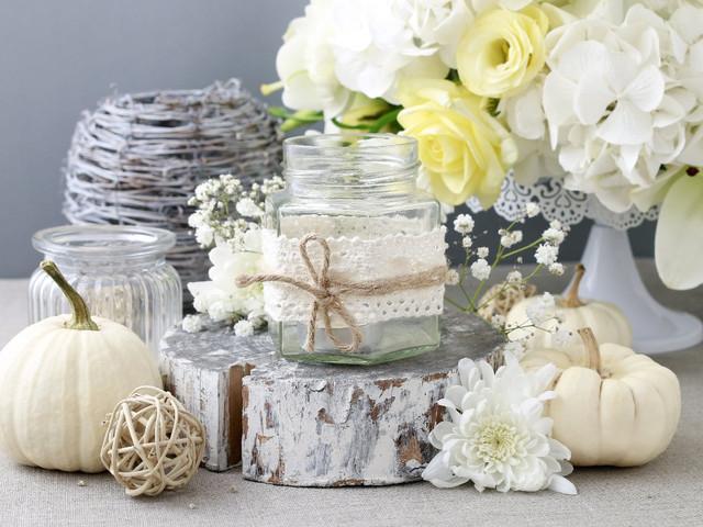 Portavelas 'handmade' para decorar su boda: detalles con sello personal