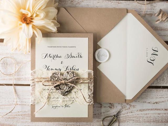 Tipos de papel y de impresión para las invitaciones de boda