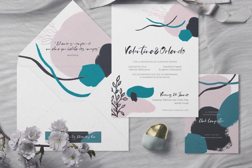 elegir invitaciones de boda elegantes y modernas