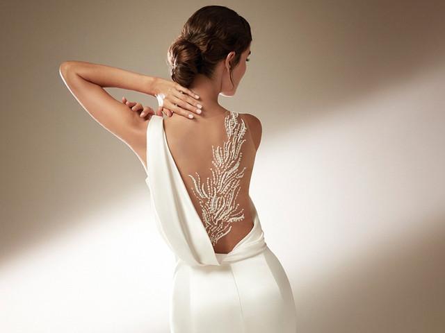 70 vestidos de novia con espaldas espectaculares: sensual delicadeza