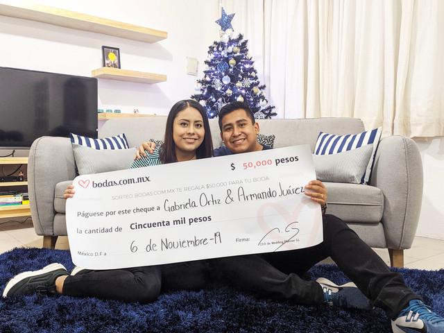 ¡Armando y Gabriela son los ganadores del sorteo mensual de Bodas.com.mx!