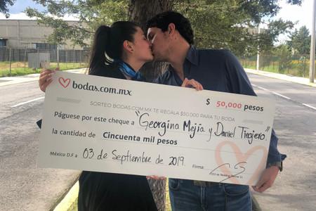 Con los 50 mil pesos del sorteo, Daniel y Georgina se van de luna de miel