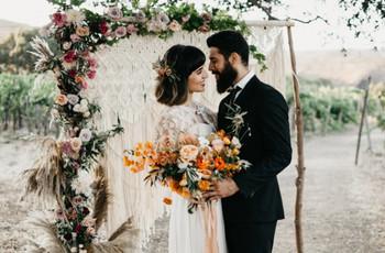 Decoración de boda con 'crochet', una técnica artesanal encantadora