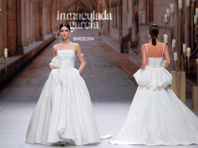 Vestidos de novia Inmaculada García 2020: ¡sí al volumen!