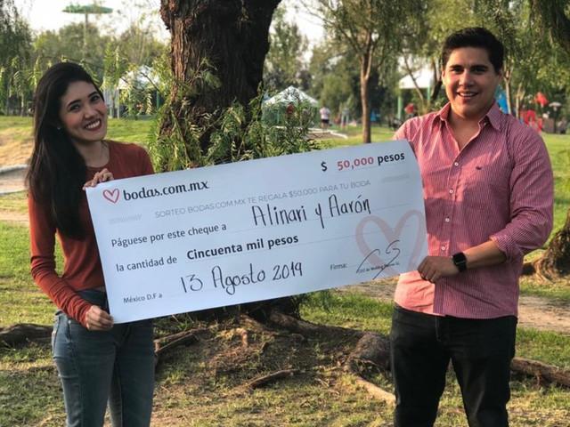 La esperanza nunca muere: ¡Alinari y Aarón ganaron el sorteo de 50 mil pesos!