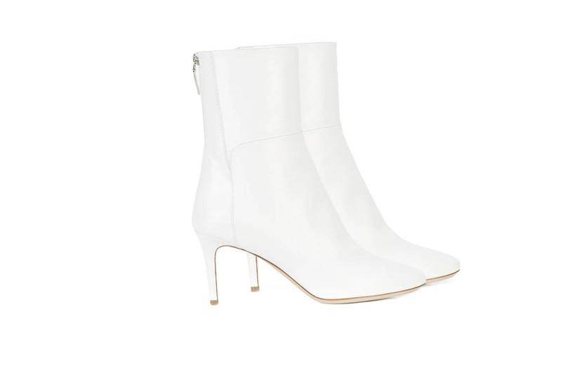 Botas blancas para novia con tacones