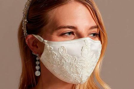 Cubrebocas de novia para todos los estilos de boda en tiempos de pandemia