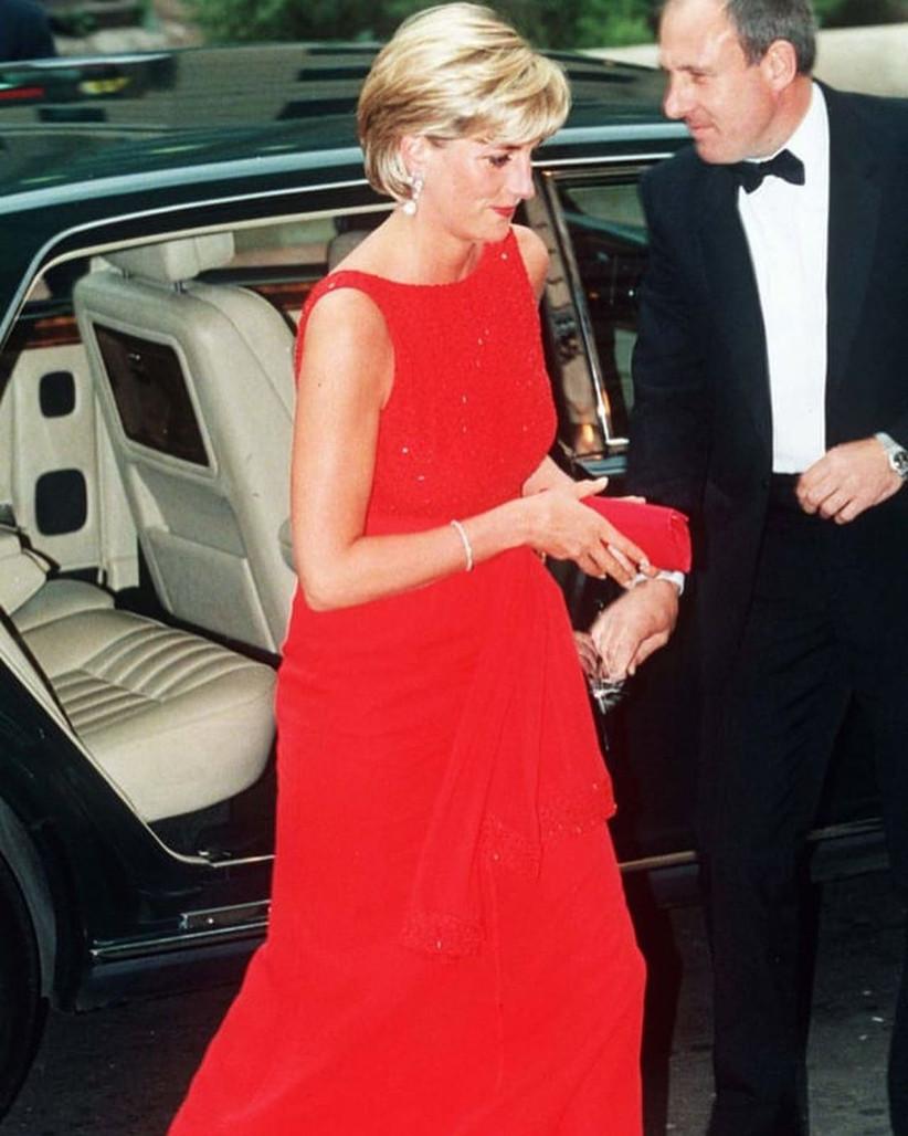 vestido largo de fiesta rojo Lady Di