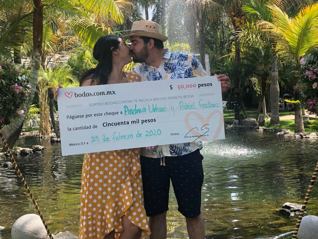 Adriel y Andrea celebraron la boda de sus sueños ¡y ganaron nuestro sorteo!