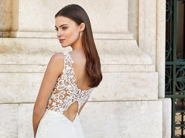 13 tipos de escote en la espalda del vestido de novia
