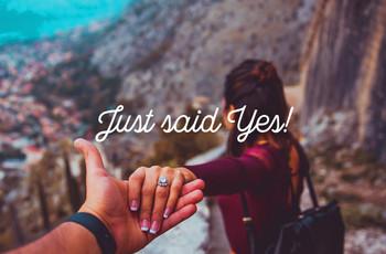 ¡Su propuesta de matrimonio puede ser premiada en el sorteo #JustSaidYes!