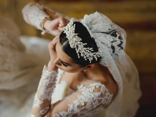 25 tocados de azahares para peinados de novia muy románticos