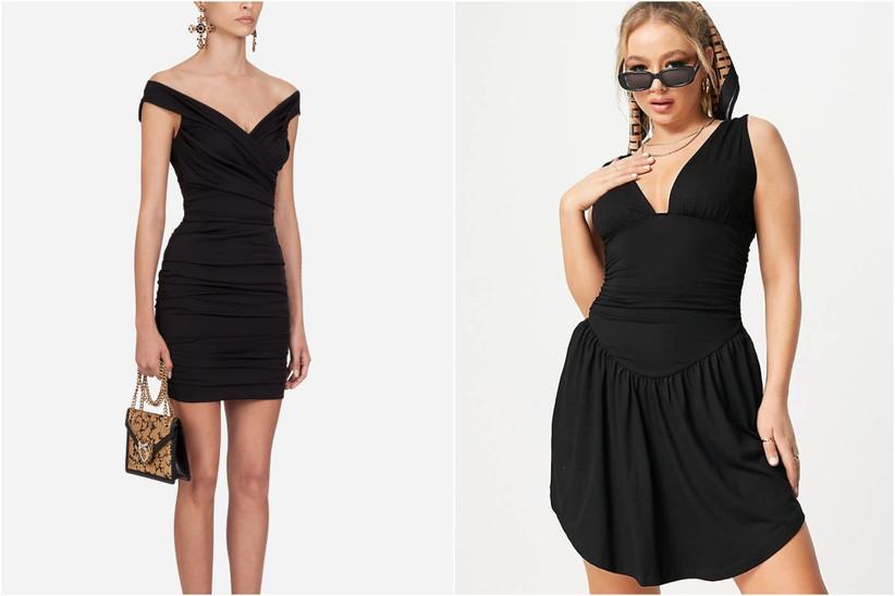 vestidos cortos negros de fiestas para invitadas a boda