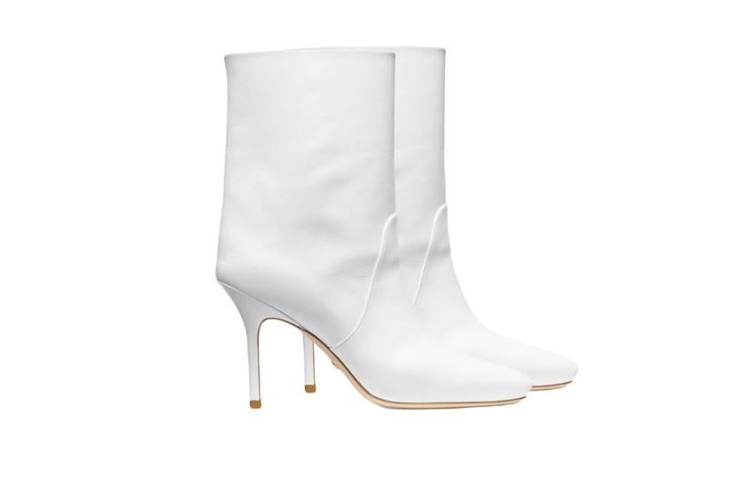 Botas cortas blancas para novia