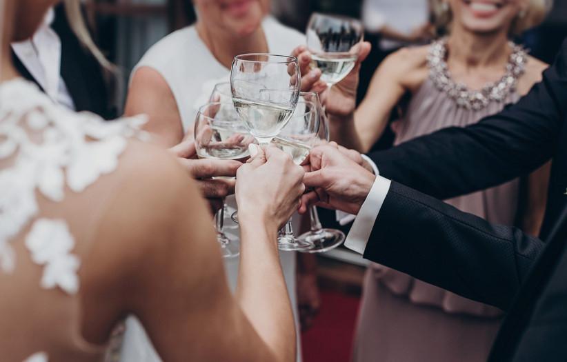 brindis boda familia banquete