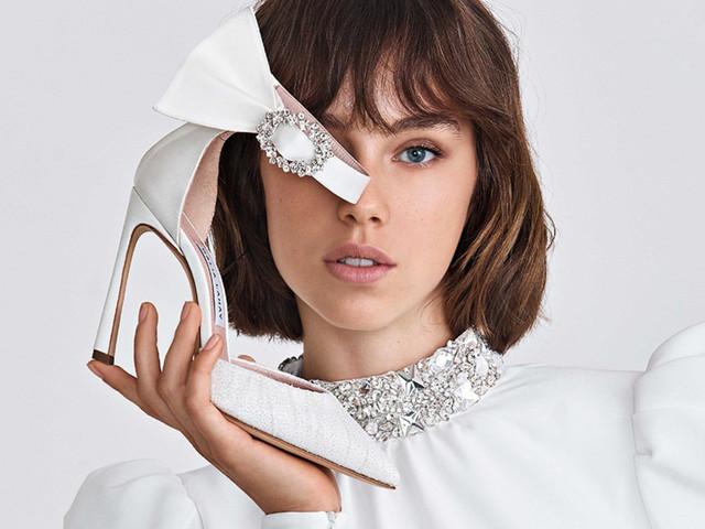 10 tendencias en zapatos de novia 2021: amor a la primera pisada