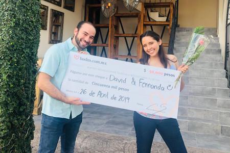 David y Fernanda ganan nuestro sorteo en su primer mes de casados