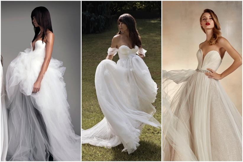 vestidos de novia largos con escote corazón