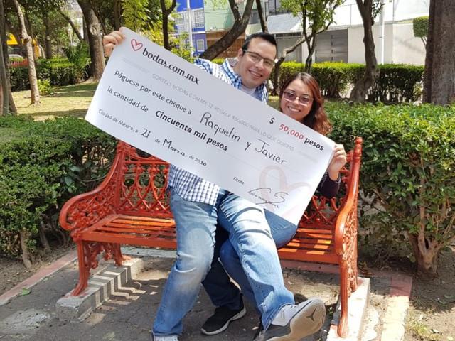 Javier y Raquelin, un mes de casados y ¡ganadores de nuestro sorteo!