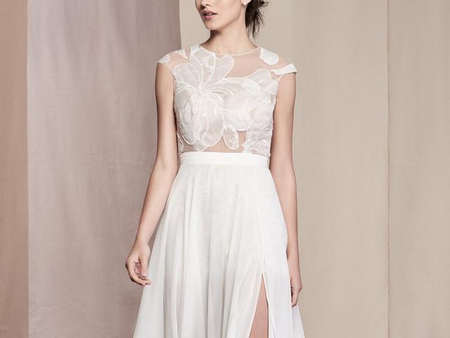 'Patchwork' de alta costura: vestidos de novia Justin Alexander Signature 2020
