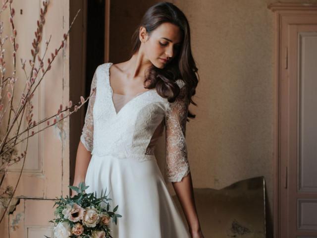 40 vestidos de novia con manga tres cuartos: ideales para todo tipo de looks