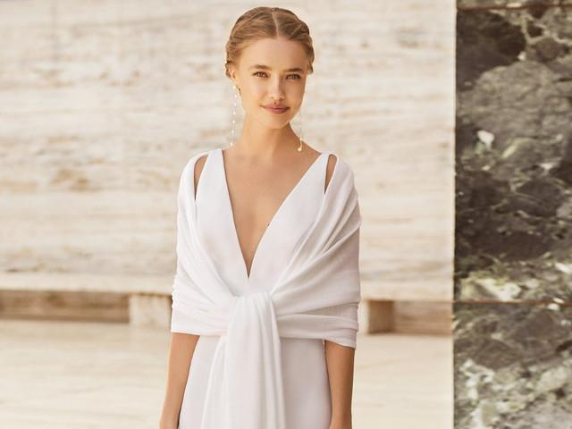 Transforma tu vestido de novia con los complementos Rosa Clará 2021