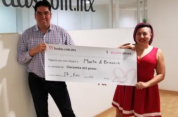 Una amistad que llegó al altar: ¡Braulio y Marta ganaron nuestro sorteo!