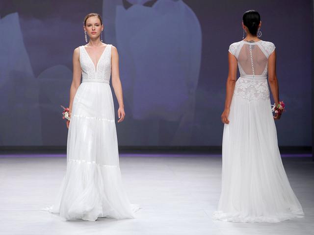 Vestidos de novia Aire Barcelona 2020, la brisa que sacude las faldas