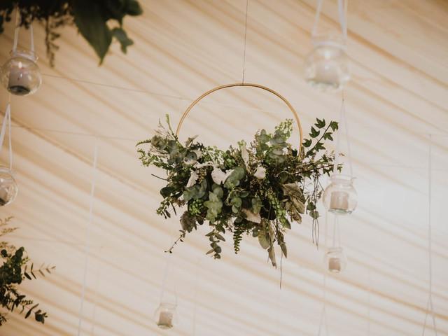 7 encantadoras ideas de decoración colgante para su boda