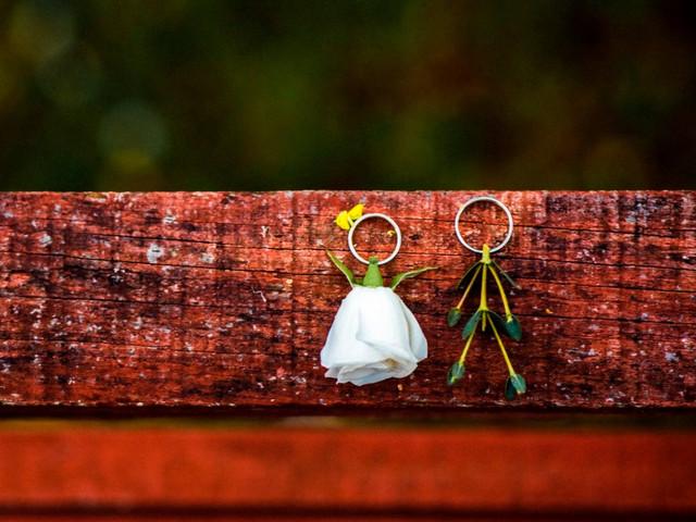 7 ideas originales para las fotografías de sus anillos de boda