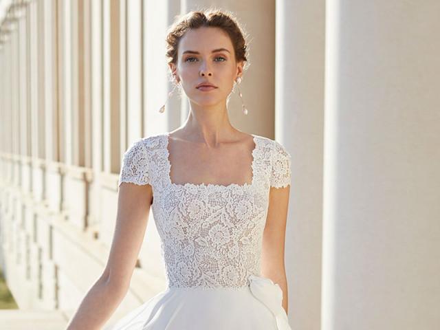 50 vestidos de novia con escote cuadrado, un clásico muy favorecedor