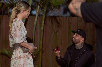 ¡Nicky Jam le entregó anillo de compromiso a su novia en San Valentín!